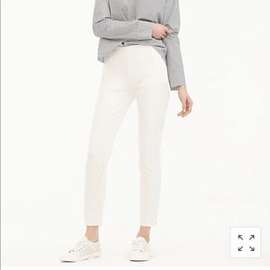 New J Crew Martie pant in bi-stretch cotton Gray